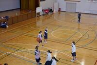 バスケットボールの練習