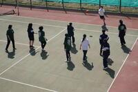 ドッヂボールの練習