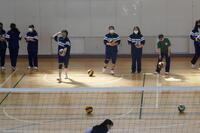 バレーボールの練習